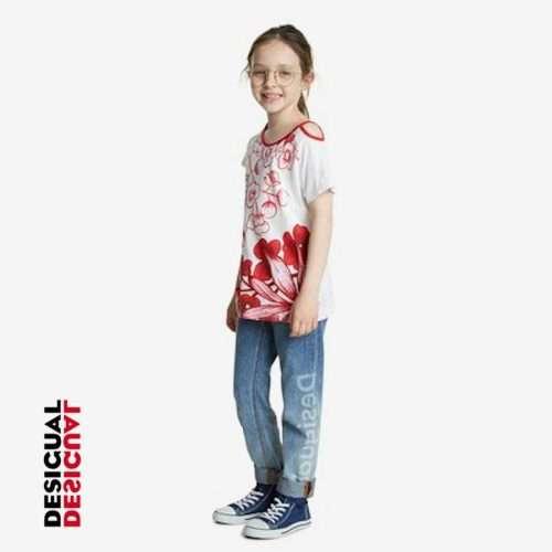 Desigual - Camiseta Londres flores