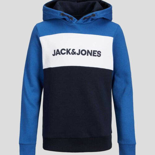 Jack & Jones - Sudadera logo blocking capucha