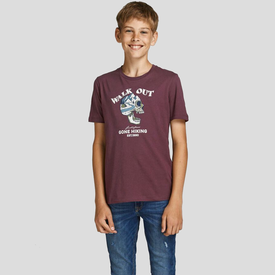 Jack & Jones - Camiseta Skull 12194608 Catawba grape