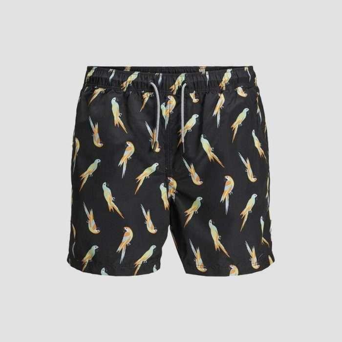 Jack & Jones - Bañador Aruba Animal 12169645 black