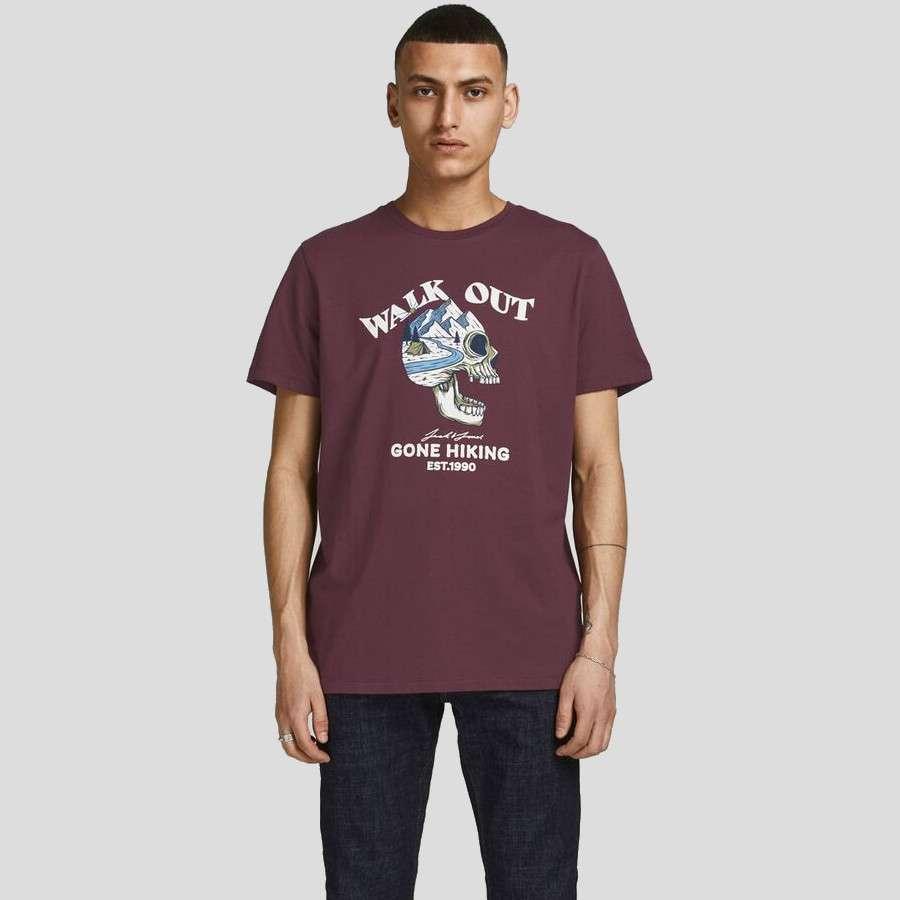 Jack & Jones - Camiseta Skull 12193804 catawba grape