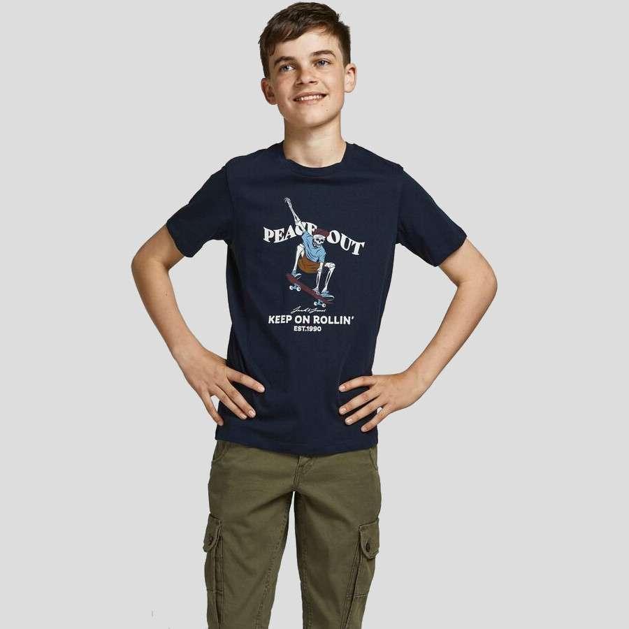 Jack & Jones - Camiseta Skull 12194608 Navy