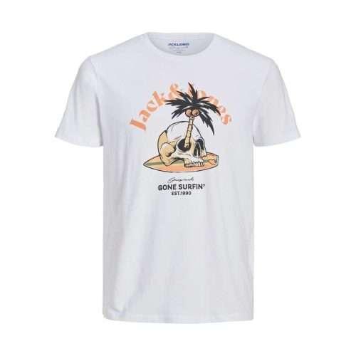Jack & Jones - Camiseta Skull 12206876WHITE