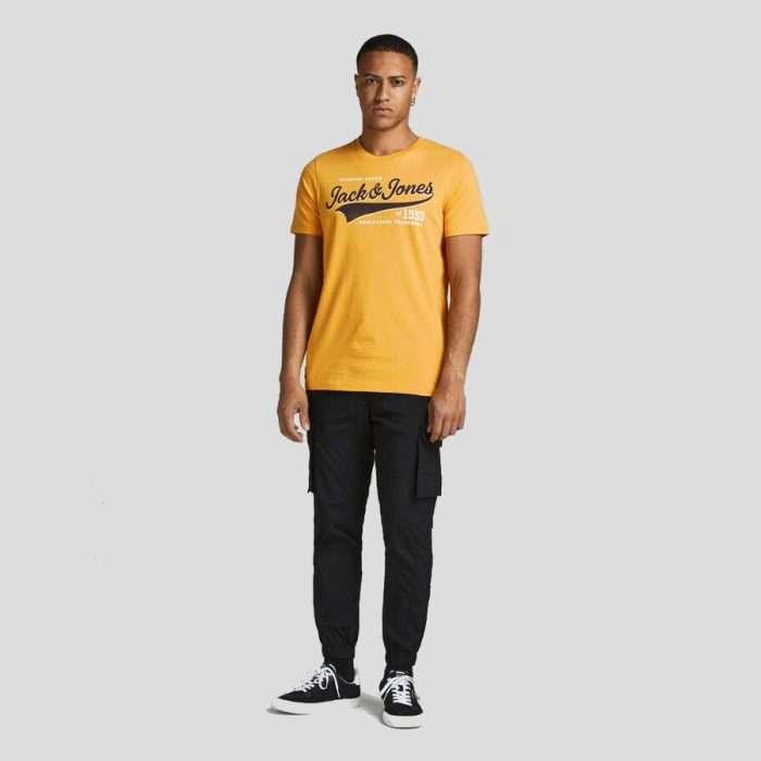 Jack & Jones - Camiseta Logo3 12189734 GOLDEN ORANGE