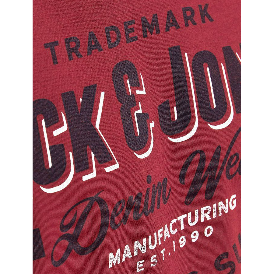 Jack & Jones - Camiseta Logo3 12189734 RED DAHLIA