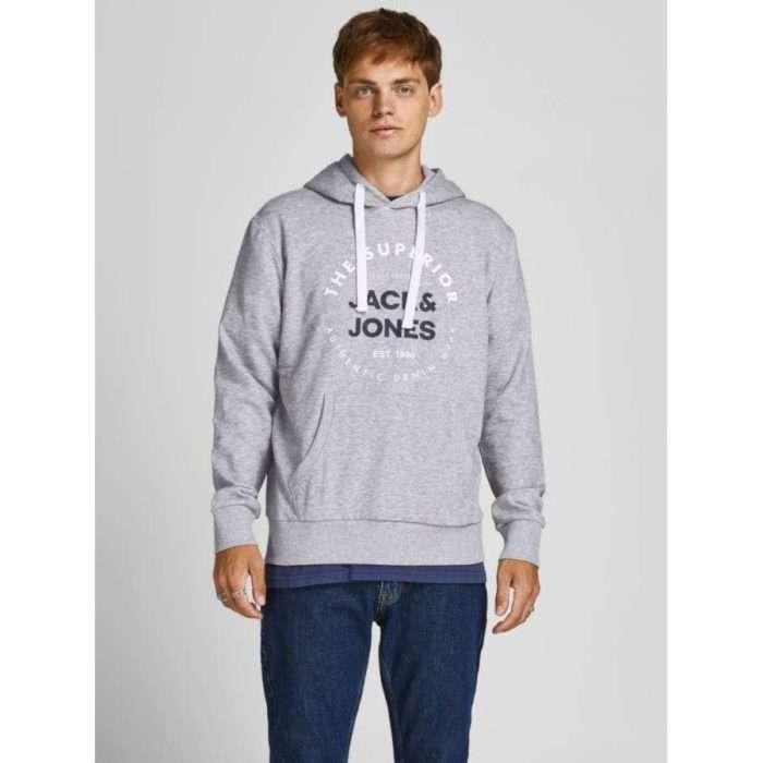 Jack & Jones - Sudadera Herro con capucha 12188849 - Grey