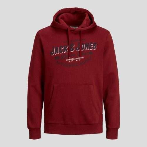 Jack & Jones - Sudadera Logo Hood 12189736 Red Dahlia
