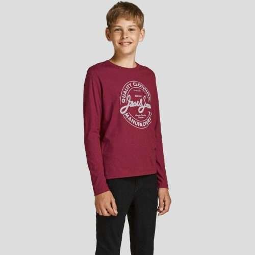 Jack & Jones - Camiseta Jeans 12190513 Red Dahlia